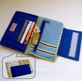 """Geldbeutel """"blue"""" 13 x 9 cm von frollein cosa -"""