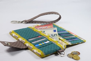 Geldbeutel Brieftasche Portemonnaie aus Designerstoffen, Handgefertigt Limitiert -