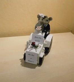 Geldgeschenk - Hochzeit - Der weiße Traktor kommt -