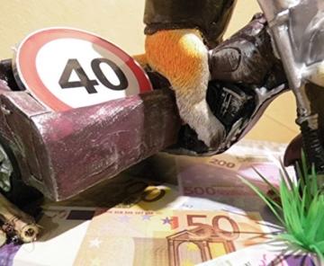 Geldgeschenk z. Geburtstag Motorrad Seitenwagen -