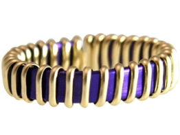 Gemshine Handmade - Ring - Vergoldet - Emaille - Violett - Größenverstellbar -