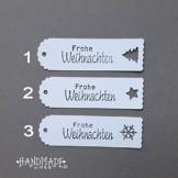 Geschenkanhänger Papieranhänger Tags Etiketten Weihnachten -