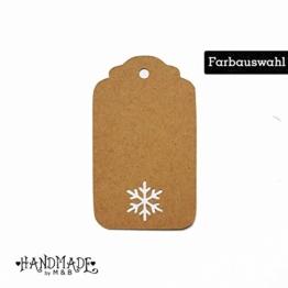 Geschenkanhänger Papieranhänger Tags Etiketten Weihnachten Schneeflocke -