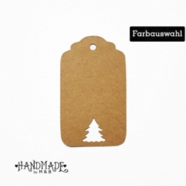 Geschenkanhänger Papieranhänger Tags Etiketten Weihnachten Tannenbaum -