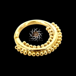 Gold Nasenring - Gold Nasenreifen - Indischer Nasenring - Tribal Nase Ring - Nasenschmuck - Nasenpiercing - winzigen Nasenring - Nasenloch Schmuck - Nasenring Ring - Piercing Schmuck -
