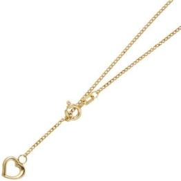 Goldenes Fußkettchen mit Herz Länge ca. 26 cm 333/- Gelbgold Federringverschluss (ca. 1,4 g) Fußkette -