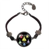 Gravity Falls Bill Cipher Wheel Armband Armreif Anhänger Mode Schmuck Mehrfarbig -