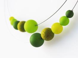 Grüne Polariskette Kette grün oliv Statementkette -