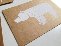Grußkarte Origamimotiv -
