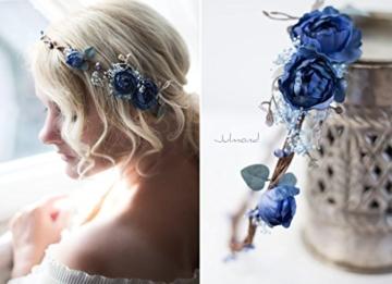 ᐅᐅ Haarkranz Blumen Blau Haarschmuck Hochzeit Individuelle
