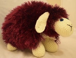 Handgefertigt weichem Süße Schaf Form Kissen kissenpolster Sofa Spielzeug Wohnkultur Sofa Deko Baby Kinder Geschenk Spielzeug (lila) -