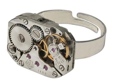 Handgemachter Steampunk Ring Rechteckig -