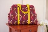 Handgemachter Weekender aus Designerstoff, Reisetasche, Shopper, Schultertasche, Handtasche, Einzelstück, Unikat -