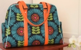 Handgemachter Weekender aus Designerstoffen, Reisetasche, Shopper, Schultertasche, Handtasche, limitiert -