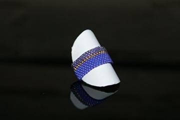 Handgewebter Ring aus japanischen MIYUKI-Glasperlen -