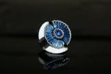 """Handgewebter Ring """"Saphir"""" aus japanischen MIYUKI-Glasperlen mit SWAROVSKI Kristallen -"""