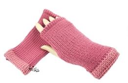 Handstulpen altrosa - Wollstulpen - Hand gestrickt - warm und weich -