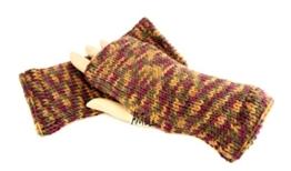 Handstulpen braun Mix - Wollstulpen - Hand gestrickt - warm und weich -