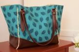 Handtasche Schultertasche aus Designerstoff, vergrößerbar, Handgefertigt Einzelstück Unikat -