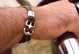 Herrenarmband mit Gravur, versilberter Anker, Freundschaftsband auch für Männer -