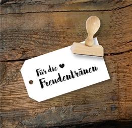 Hochzeit Stempel Für die Freudentränen aus Buchenholz, Qualitätsprodukt aus Österreich, perfekt für DIY Wedding -