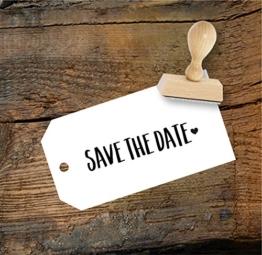 Hochzeit Stempel Save the date aus Buchenholz, Qualitätsprodukt aus Österreich, perfekt für DIY Wedding -