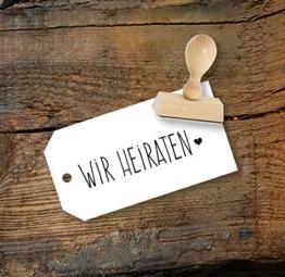 Hochzeit Stempel Wir heiraten aus Buchenholz, Qualitätsprodukt aus Österreich, perfekt für DIY Wedding -