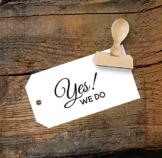 Hochzeit Stempel Yes! We do aus Buchenholz, Qualitätsprodukt aus Österreich, perfekt für DIY Wedding -