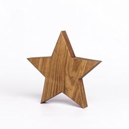 Holzstern aus Eichenholz | handgefertigt in Bayern | verschiedene Größen zur Auswahl | Deko Stern aus Holz -