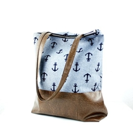 Indigo Anker Handtasche Messenger Bag -