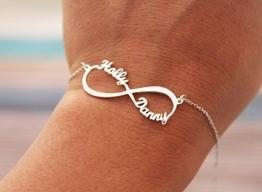 infinity armband- 925 Sterling Silber -Unendlich Namenskette -