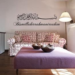 Islamische Wandtattoos - Meccastyle - Bismillahirrahmanirrahim - Basmala - Besmele - A140 -