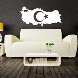 Islamische Wandtattoos - Meccastyle - Türkei Landkarte Türkiye haritasi - A5000 -