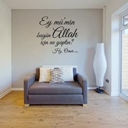 Islamische Wandtattoos - Meccastyle - Zitate - Sprüche - Ey mümin bugün Allah icin ne yaptin Hz. Ömer - A459 -