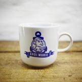 Kaffeebecher / Becher Marie im maritimen Design blau-weisses Porzellan von Ahoi Marie -