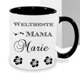 Kaffeebecher WELTBESTE MAMA ++ Tasse mit Namen Namentasse personalisiert nach Wunsch Weihnachts-Geschenk auch für Opa,Oma, Papa, Bruder, Schwester,... -
