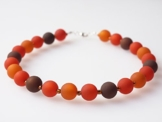 Kette kupfer rost orange braun schoko Polariskette -
