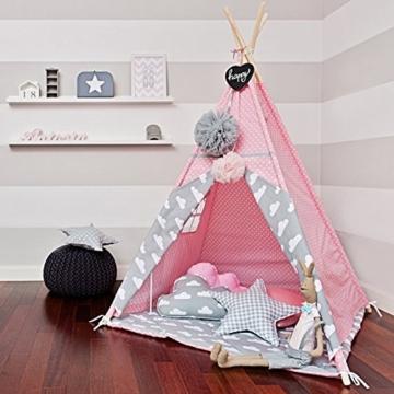 Kinder Tipi Zelt mit 4 Stangen Wimpelkette Bodenmatte,Spielzelt, Kinder Tipi, Kleinkinder Tipi, Tipi Zelt, Tipi, Spielhaus, Kinderzimmer Dekor, Wigwam ... -