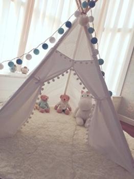 Kinder Tipi Zelt mit 5 Stangen, Spielzelt, Kinder Tipi, Kleinkinder Tipi, Tipi Zelt, Tipi, Spielhaus, Kinderzimmer Dekor, Wigwam -