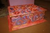 Kiste, Schachtel aus Pappmache, 55/42/19cm -