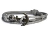 KOMIMAR Anker Armband NEPTUN - Bracelet - Bangle - Surferarmband - Wickelarmband - Geschenkidee - Armreif - Maritim - Noir - Strandschmuck - -