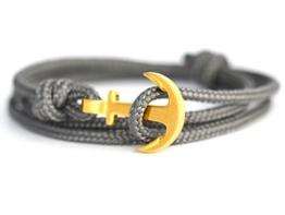 KOMIMAR Anker Armband POIPU JEWEL - Bracelet - Bangle - Surferarmband - Wickelarmband - Geschenkidee - Armreif - Maritim - Noir - Strandschmuck - Sommertrend - -