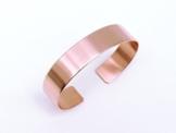 Kupfer Armreif 1,3 cm breit glänzend -