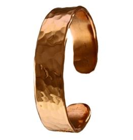 "Kupferarmband / ""3"" / handgeschmiedet aus massivem Kupfer / 3mm dick / 15mm breit / Größe Large -"