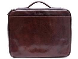 Leder dokument aktentasche herren made in Italy A4 leder handtasche reißverschluss tasche braun ledertasche -
