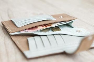 Ledergeldbeutel, Lederportmonnaie handgemacht in Bayern -