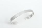 Männer Herren Armreif aus 925 Sterling Silber 7mm breit, glänzend. -