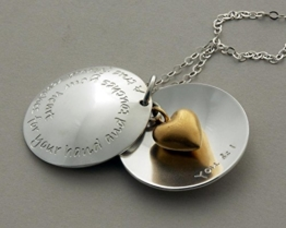 Medaillionkette mit Ihrer Wunschgravur 24K/925-Silber, Freundschaftskette -