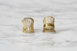 Messing Ring minimalistisch geometrisch -