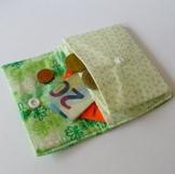 """Mini-Geldbeutel """"fresh green"""" 10 x 8 cm von frollein cosa -"""